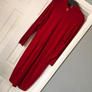St John red dress